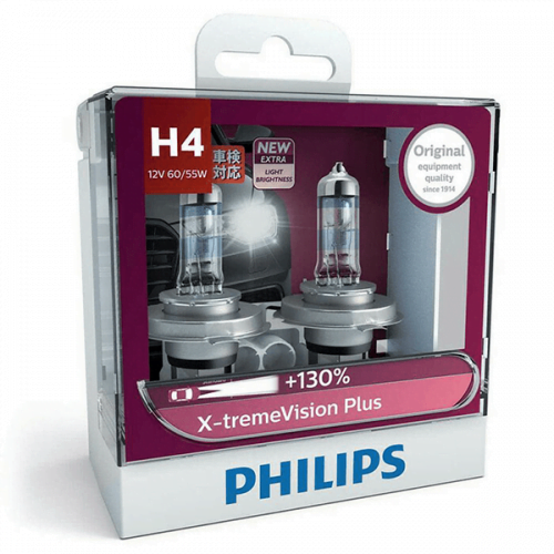 Philips H4 Xtreme Vision Plus 12V