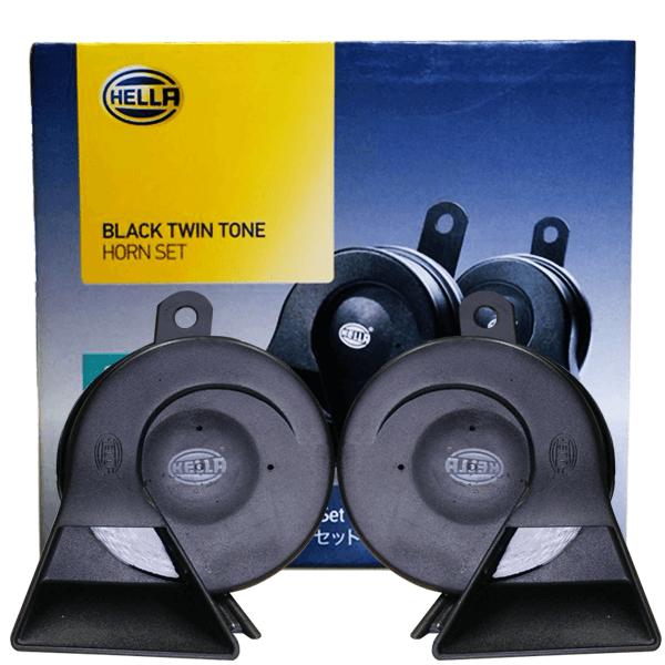 Hella Black Twin Tone Horn Set