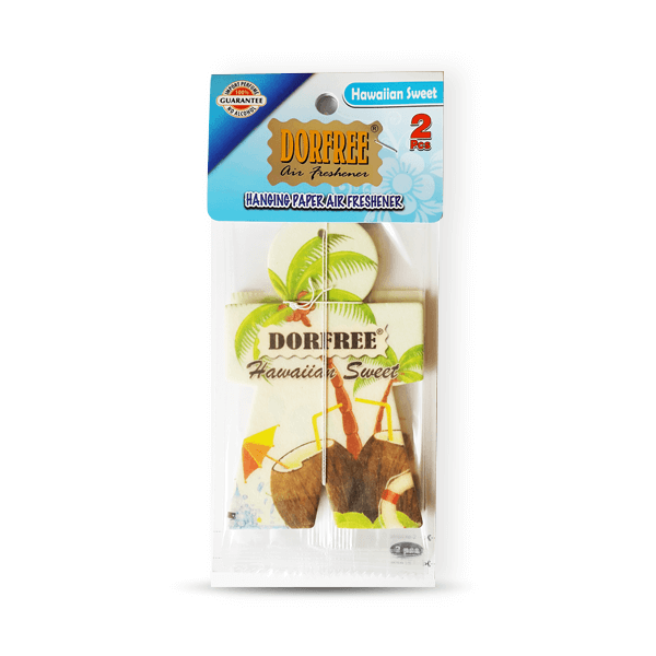 Dorfree Hanging Paper Air Freshener Hawaiian Sweet