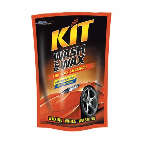 KIT WASH & WAX POUCH 800ML
