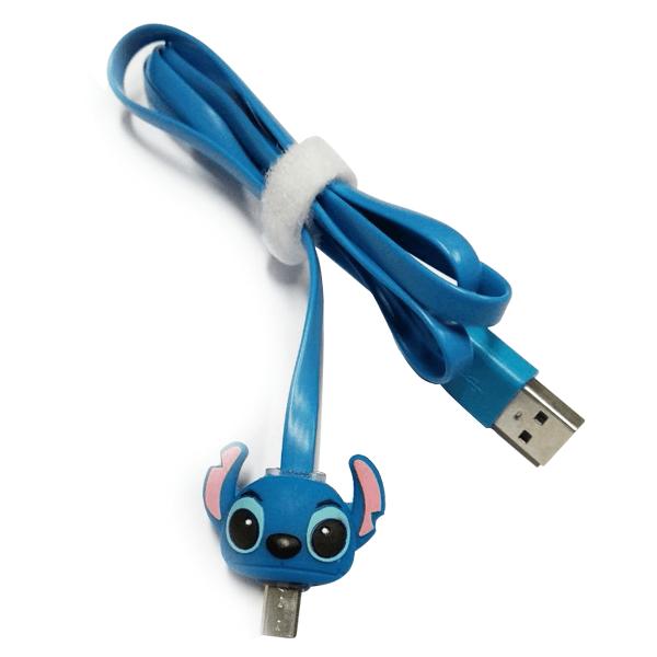 EXCELLENCE KABEL USB MICRO KEPALA KARTUN NYALA